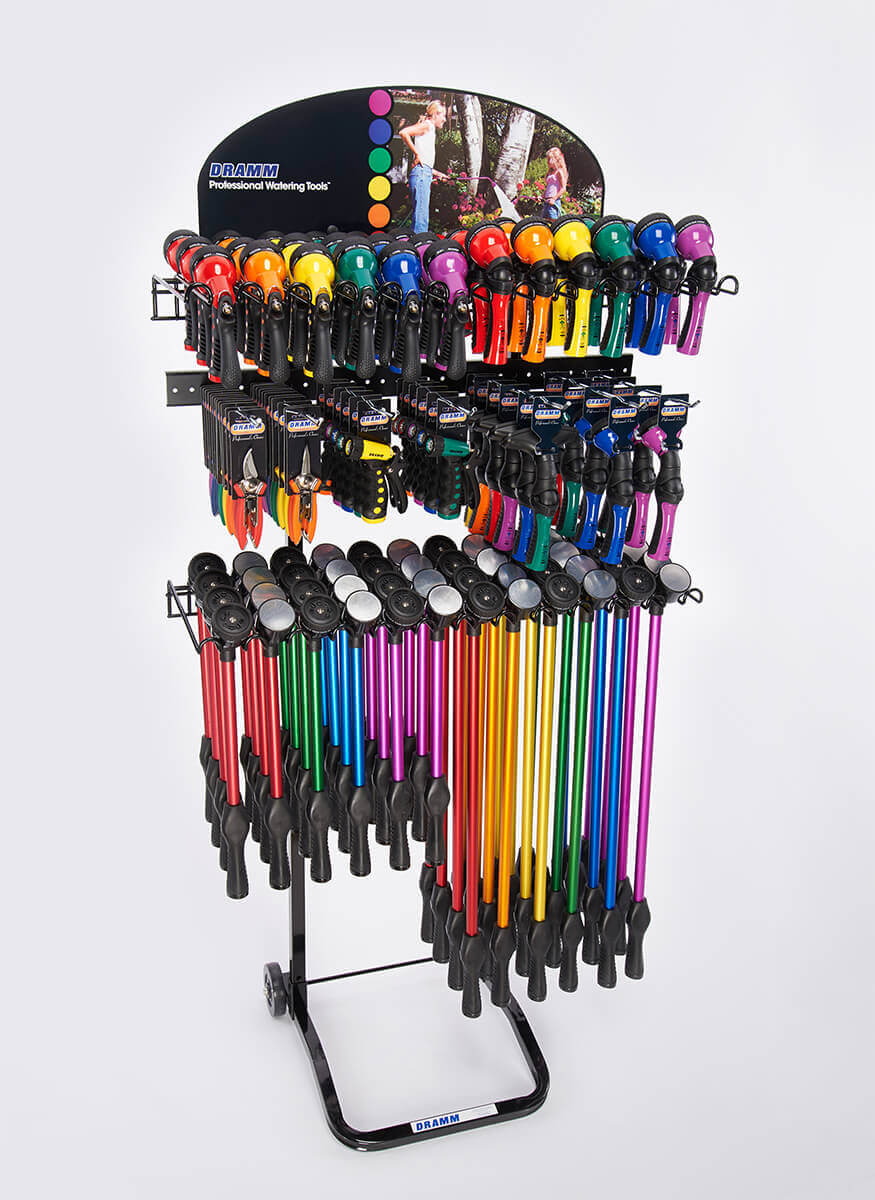 RainSelect Rain Wands / OneTouch Rain Wands / Revolution / Revolver / Hand Watering Tools / Cutting tools Display
