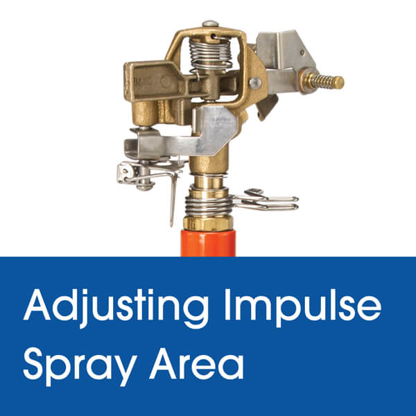 Adjusting the Spray Area on your Dramm Impulse Sprinkler