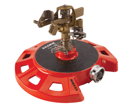 Dramm Red ColorStorm Circular Base Impulse Sprinkler