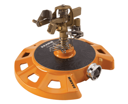 Dramm Orange ColorStorm Circular Base Impulse Sprinkler