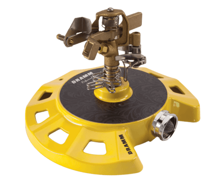Dramm Yellow ColorStorm Circular Base Impulse Sprinkler
