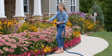 In the Garden with Dramm's Telescopic Rain Wand