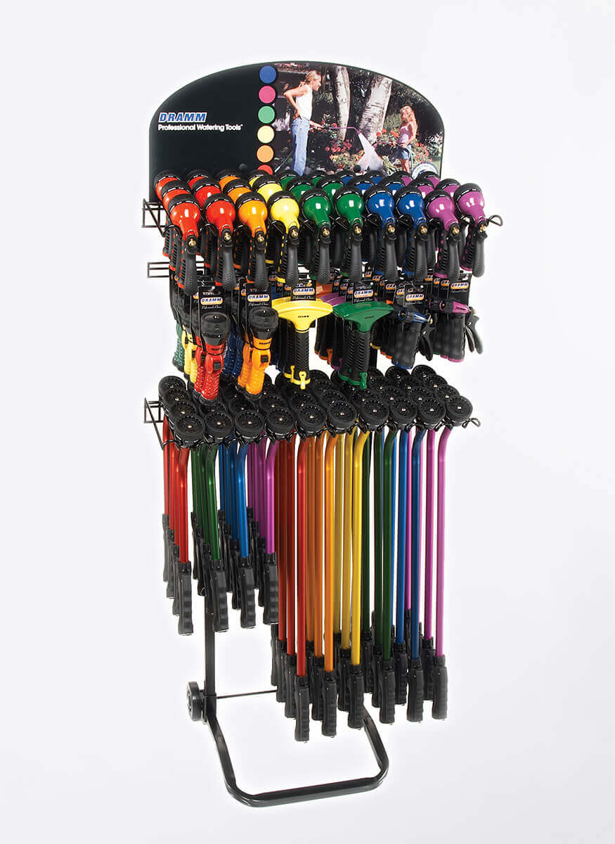 Kaleidoscope Rain Wands with Hand Watering Tools Display