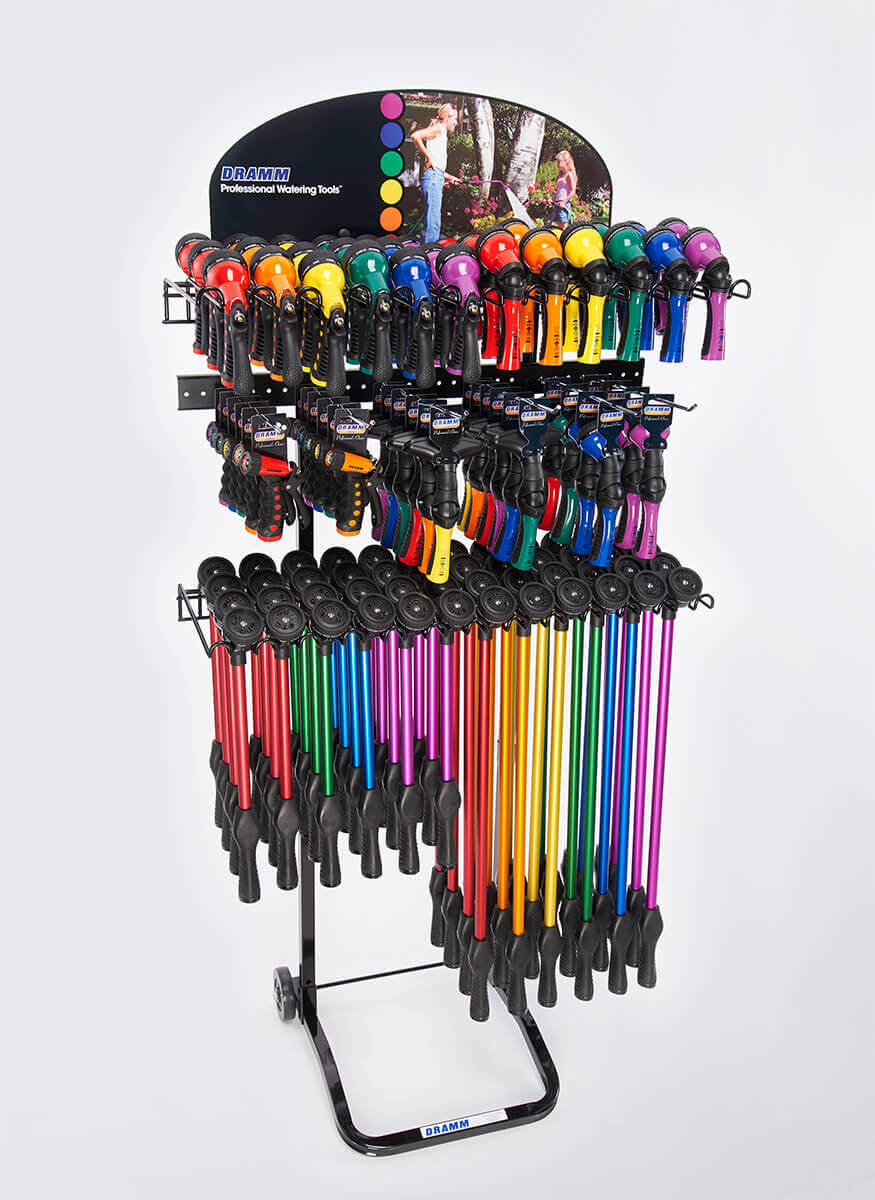 RainSelect Rain Wands Revolution / Revolver / Hand Watering Tools Display