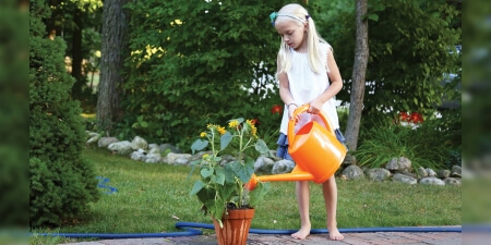 7 Liter Orange Watering Can
