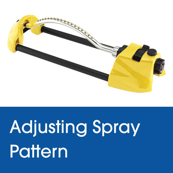 Adjusting the Spray Pattern on a Dramm Oscillating Sprinkler