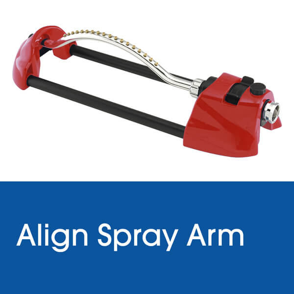 Align Spray Arm on a Dramm Oscillating Sprinkler